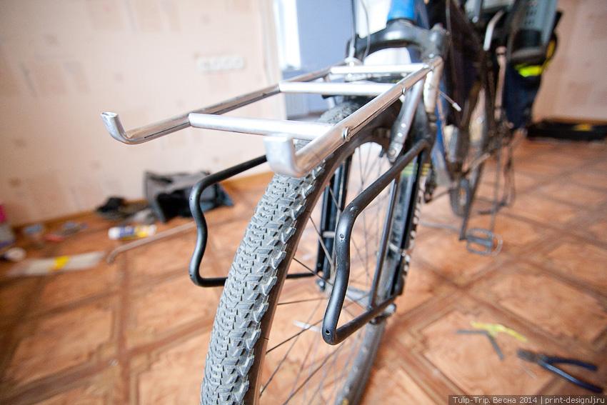 Багажник на двухподвесный велосипед своими руками 20