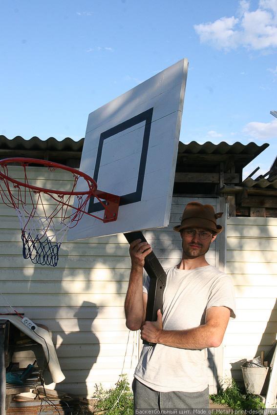 Баскетбольный щит своими руками - фотоотчет ImhoDom.Ru - Сибирское Домовладение