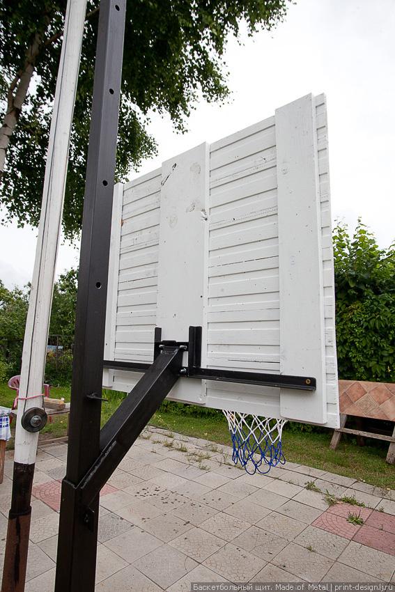 Баскетбольный щит на дачу своими руками