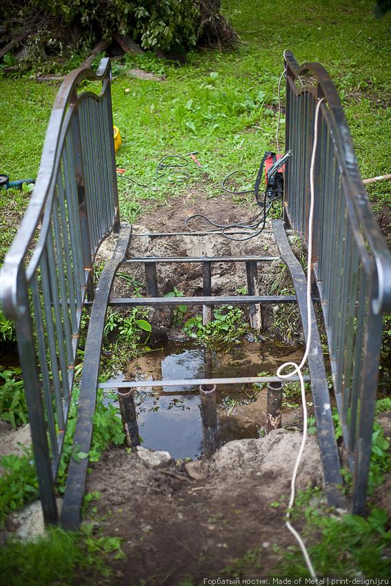 Мост через ручей своими руками 25
