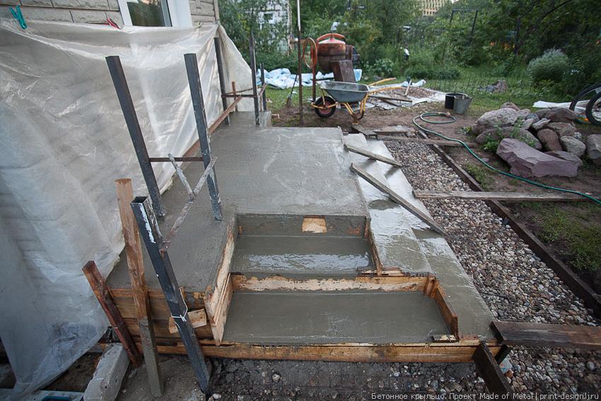 Крыльцо из бетона к дому своими руками проекты фото