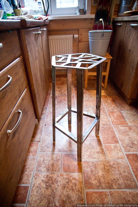 Барный стул из металла своими руками 43